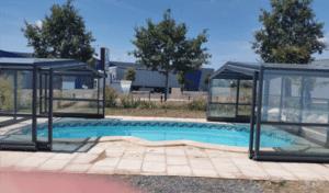 Abris de piscines a ouverture par moitié